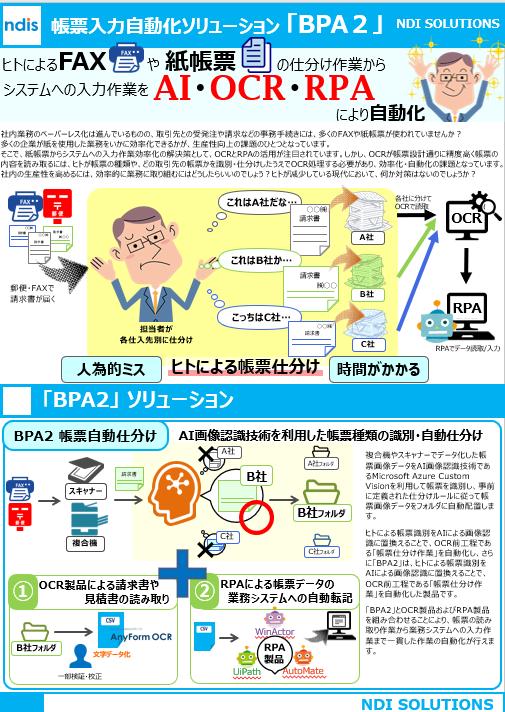 帳票入力自動化ソリューション「BPA2」ご紹介資料